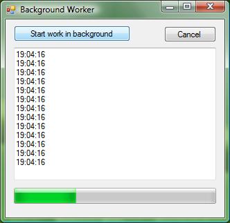 Ejemplo Background Worker